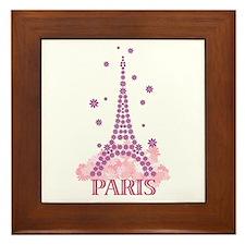 Flower Eiffel 03 Framed Tile