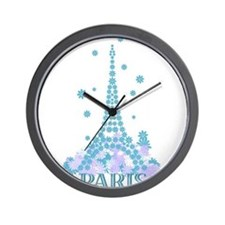 Flower Eiffel 04 Wall Clock