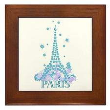 Flower Eiffel 04 Framed Tile