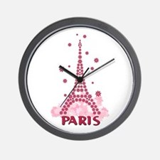 Flower Eiffel 05 Wall Clock