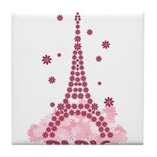 Flower Eiffel 05 Tile Coaster