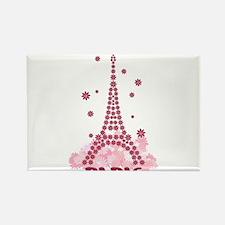 Flower Eiffel 05 Rectangle Magnet