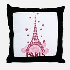 Flower Eiffel 05 Throw Pillow