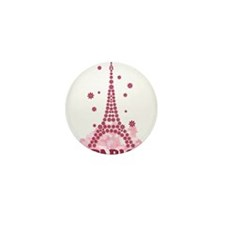 Flower Eiffel 05 Mini Button (100 pack)