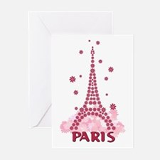 Flower Eiffel 05 Greeting Cards (Pk of 10)