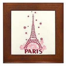 Flower Eiffel 05 Framed Tile