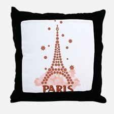 Flower Eiffel 07 Throw Pillow