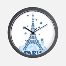 Flower Eiffel 08 Wall Clock