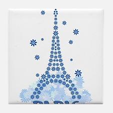 Flower Eiffel 08 Tile Coaster