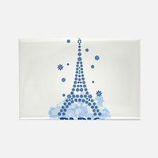 Flower Eiffel 08 Rectangle Magnet