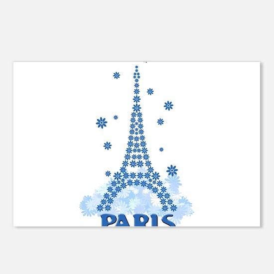 Flower Eiffel 08 Postcards (Package of 8)