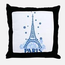 Flower Eiffel 08 Throw Pillow
