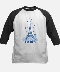 Flower Eiffel 08 Kids Baseball Jersey