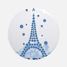 Flower Eiffel 08 Ornament (Round)