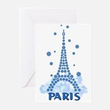 Flower Eiffel 08 Greeting Cards (Pk of 10)