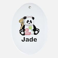 Jade's Little Panda Oval Ornament