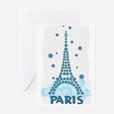 Flower Eiffel 09 Greeting Cards (Pk of 10)