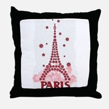 Flower Eiffel 10 Throw Pillow