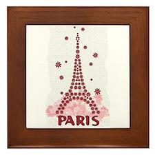 Flower Eiffel 10 Framed Tile