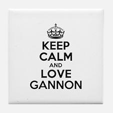 Keep Calm and Love GANNON Tile Coaster