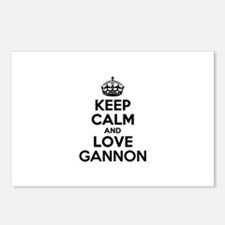 Keep Calm and Love GANNON Postcards (Package of 8)