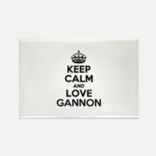 Keep Calm and Love GANNON Magnets