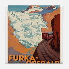 Vintage poster - Switzerland Tile Coaster