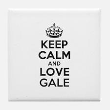 Keep Calm and Love GALE Tile Coaster
