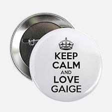 """Keep Calm and Love GAIGE 2.25"""" Button"""