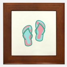 Flip Flops Framed Tile