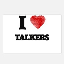 I love Talkers Postcards (Package of 8)