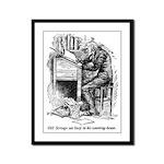 Old Scrooge Framed Panel Print