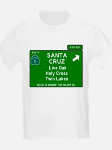 HIGHWAY 1 SIGN - CALIFORNIA - SANTA CRUZ - T-Shirt