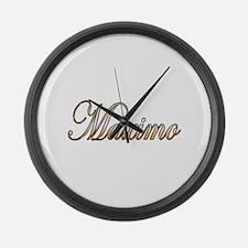 Cute Maximo Large Wall Clock