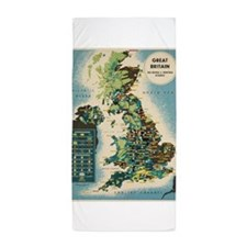 Vintage poster - Great Britain Beach Towel