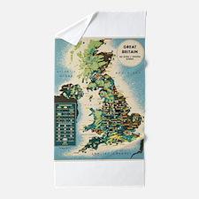 Vintage poster - Great Britain Beach Towel