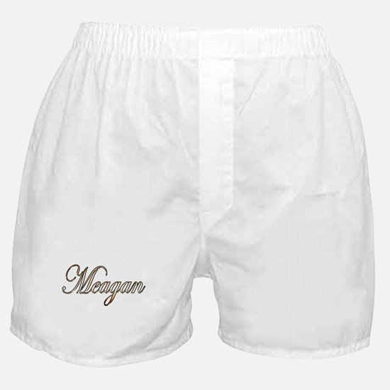 Gold Meagan Boxer Shorts