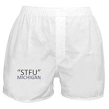 """""""STFU"""" Michigan Boxer Shorts"""