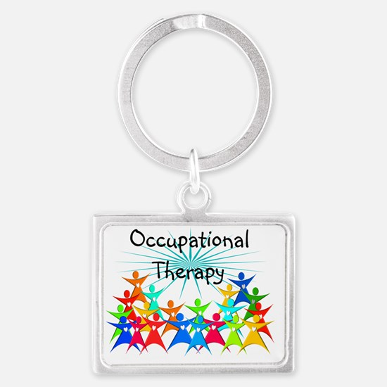 Cute Occupational therapy month Landscape Keychain