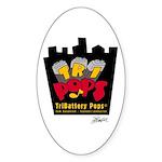 TriBattery Pride Oval Sticker