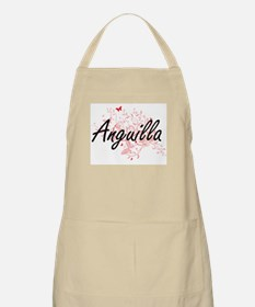 Anguilla Artistic Design with Butterflies Apron