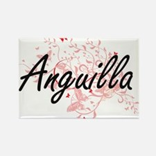 Anguilla Artistic Design with Butterflies Magnets