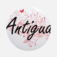 Antigua Artistic Design with Butter Round Ornament