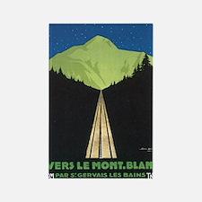 Vintage Vers Le Mont. Blanc P Rectangle Magnet