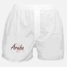 Aruba Artistic Design with Butterflie Boxer Shorts