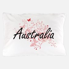 Australia Artistic Design with Butterf Pillow Case