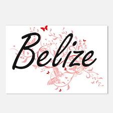 Belize Artistic Design wi Postcards (Package of 8)