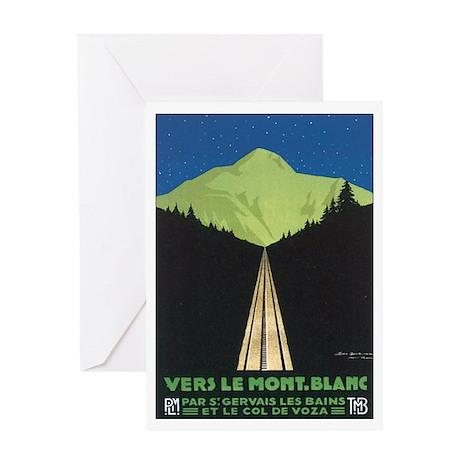 Vintage Vers Le Mont. Blanc P Greeting Card
