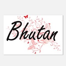 Bhutan Artistic Design wi Postcards (Package of 8)