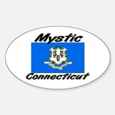 Mystic Connecticut Oval Decal